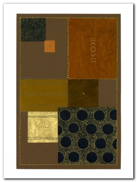 Abstract In Brown I plakat obraz 60x80cm (1)