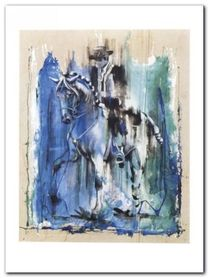 Caballero Azul plakat obraz 60x80cm