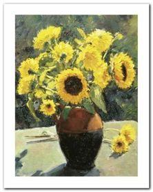 Sunflowers plakat obraz 24x30cm
