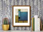 Turquoise Dog plakat obraz 24x30cm (3)