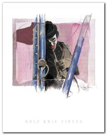 Musik Clown plakat obraz 24x30cm