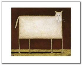 White Cat II plakat obraz 30x24cm