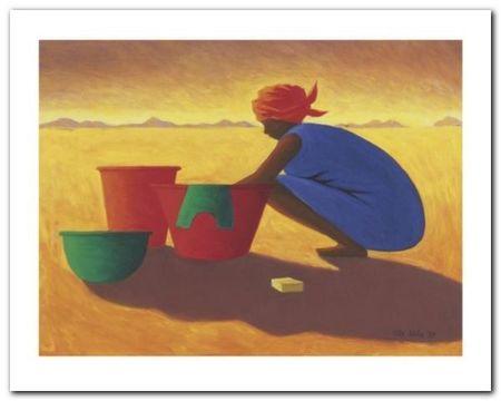 The Washer Woman plakat obraz 30x24cm (1)
