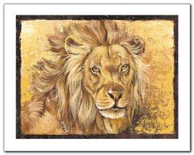 Lion Portrait plakat obraz 30x24cm