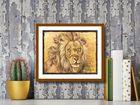 Lion Portrait plakat obraz 30x24cm (3)