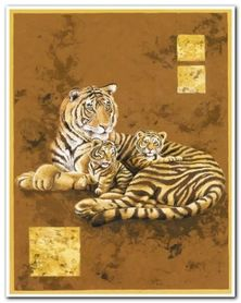 Tiger And Two Cubs plakat obraz 24x30cm