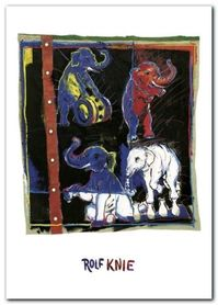 Four Elephants plakat obraz 50x70cm