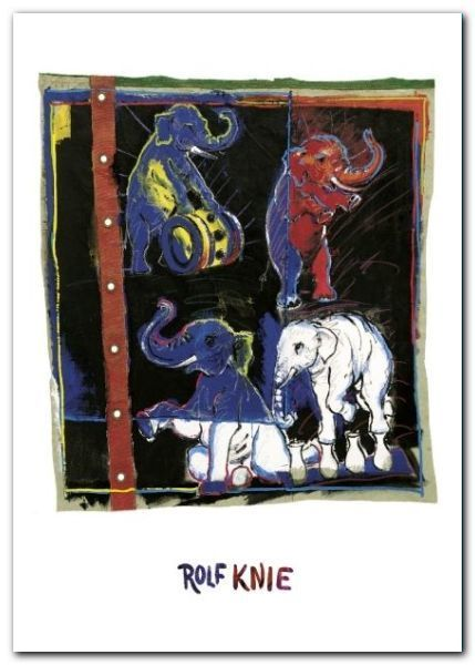Four Elephants plakat obraz 50x70cm (1)