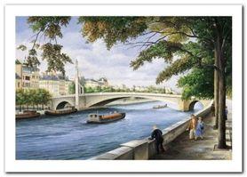 Pont De La Tournelle plakat obraz 70x50cm
