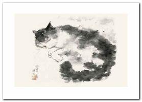 Oriental Cat II plakat obraz 70x50cm