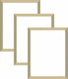 Rama aluminiowa 40x50cm szeroka, złota anoda