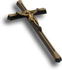 Krzyż maltański z pasyjką mosiężny wys. 20 cm (2)