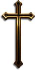 Krzyż ozdobny Gala mosiężny wysokości 30 cm (1)