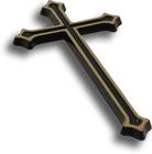 Krzyż ozdobny Gala mosiężny wysokości 30 cm (2)