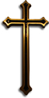 Krzyż ozdobny Gala mosiężny wysokości 45 cm (1)