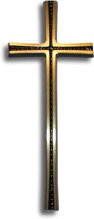 Krzyż z rowkiem mosiężny wysokości 25 cm (1)