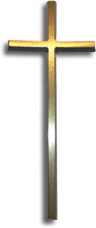 Krzyż prosty mosiężny wysokości 15 cm (1)