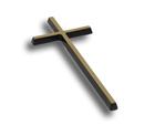 Krzyż prosty mosiężny wysokości 15 cm (2)