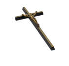 Krzyż prosty z pasyjką mosiężny wysokości 45 cm (2)