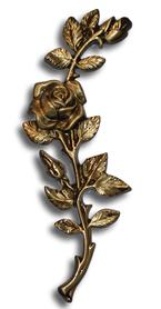 Róża gałązka mosiądz standard mosiądz wys. 17 cm