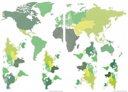 WORLD MAP naklejka na ścianę (1)