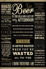 ALKOHOLE plakat 61x91cm