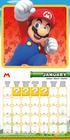 SUPER MARIO kalendarz ścienny na 2022 rok (2)